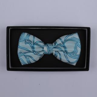 Blue Pattern Bow Tie-0