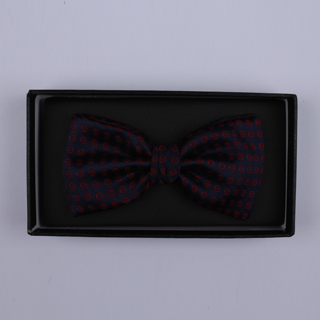 Black/Red Circles Bow Tie