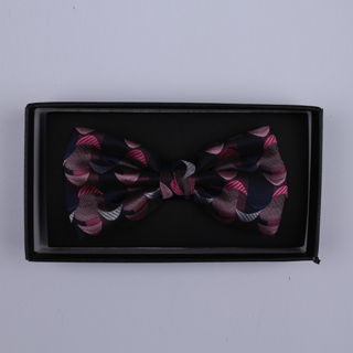 Black/Pink Crescents Bow Tie