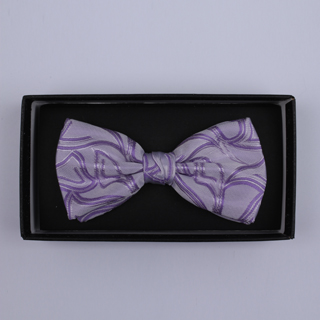 Lilac Pattern Bow Tie-0