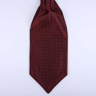 Burgundy/Red Poly Self-Tie Cravat-0