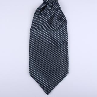 Navy Geometric Poly Self-Tie Cravat-0