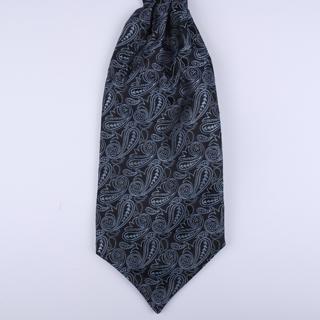 Black Paisley Poly Self-Tie Cravat-0