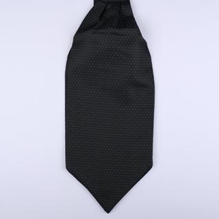 Black/blue pin-dot Poly Self-Tie Cravat-0