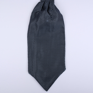 Navy/white micro pattern Self-Tie Cravat-0