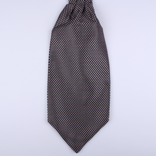 Black/grey/pink micro print Self-Tie Cravat-0