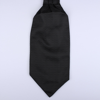 Black Dots Poly Self-Tie Cravat-0