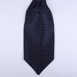 Navy Poly Self-Tie Cravat-0