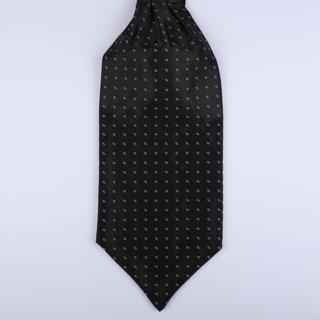 Black/white oval Self-Tie Cravat-0