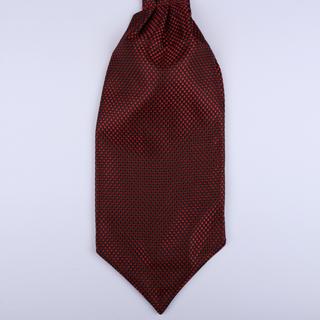 Red/black micro print Self-Tie Cravat