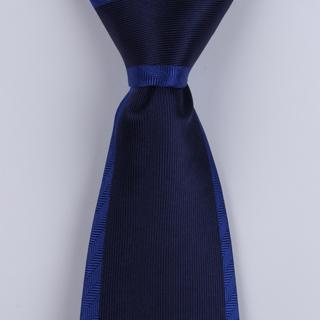 Navy/Blue colour-block Sorrento Printed Silk Tie