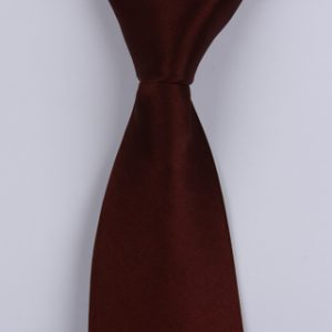 plain Burgundy Sorrento Printed Silk Tie-0