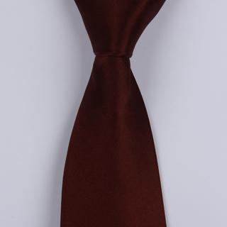 plain Burgundy Sorrento Printed Silk Tie