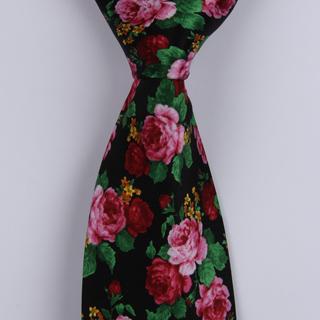 pink/red Roses Sorrento Printed Silk Tie-0