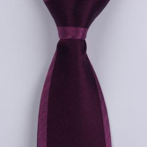 Purple colour block Sorrento Printed Silk Tie-0