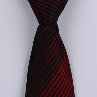 Black/Red Striped Sorrento Printed Silk Ties-0
