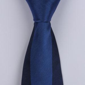 Navy/Blue Block Sorrento Printed Silk Ties-0