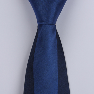Navy/Blue Block Sorrento Printed Silk Ties