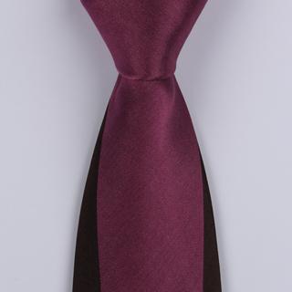 Maroon/Black Block Sorrento Printed Silk Ties-0