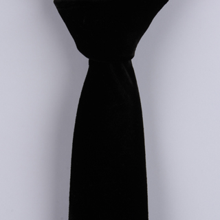 Plain Black Sorrento Printed Silk Tie-0