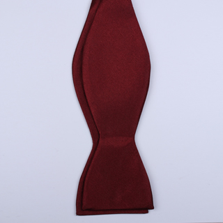 PLAIN Burgundy Self-Tie Bow Tie-0