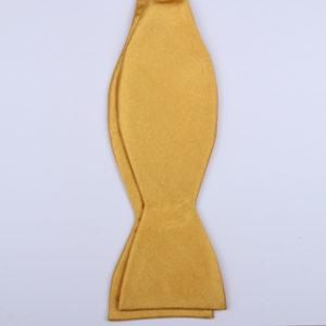 plain Mustard Yellow Self-Tie Bow Ties-0