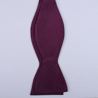 Plum Self-Tie Bow Tie
