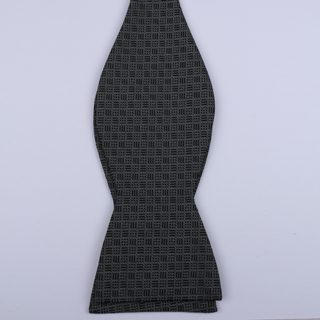 Black/Grey Waffle Self-Tie Bow Ties-0