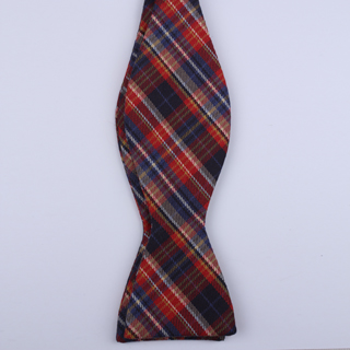 Red/Blue Tartan Self-Tie Bow Tie