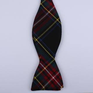 Black/red/blue/yellow Tartan Bow Tie-0