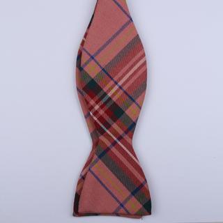 pink/blue Tartan Self-Tie Bow Ties-0