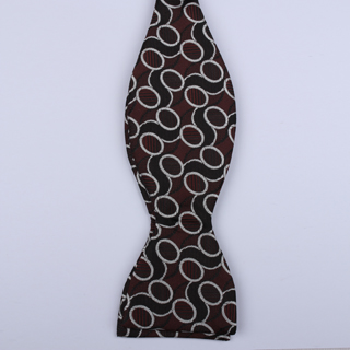 Black/dark red Links Self-Tie Bow Ties-0