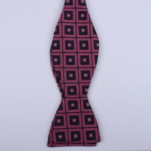Black/Pink Squares Self-Tie Bow Ties-0