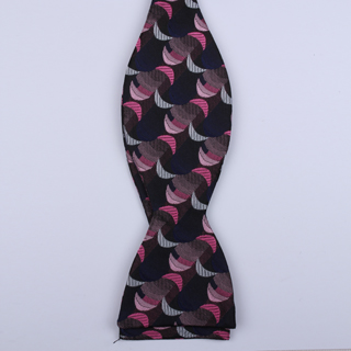 Black/Pink Crescents Self-Tie Bow Ties-0