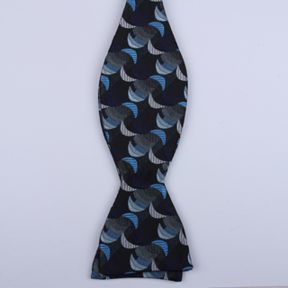 Black/blue Crescents Self-Tie Bow Ties-0