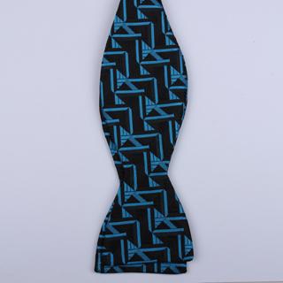 Black/Blue Arrow Self-Tie Bow Ties-0