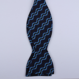 Black/Blue Waves Self-Tie Bow Ties
