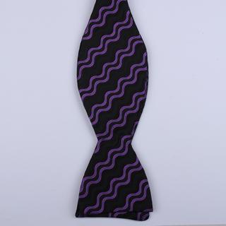 Black/Purple Waves Self-Tie Bow Ties