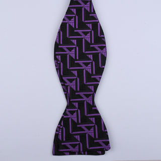 Black/Purple Arrow Self-Tie Bow Ties