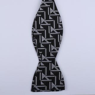 Black/White Arrow Self-Tie Bow Ties-0