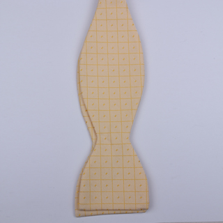 Peach Grid Dots Self-Tie Bow Ties-0