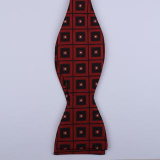 Black/Red Squares Self-Tie Bow Ties-0