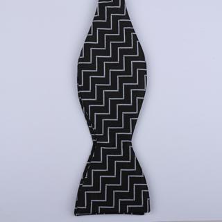 Black/White Pattern Self-Tie Bow Ties-0