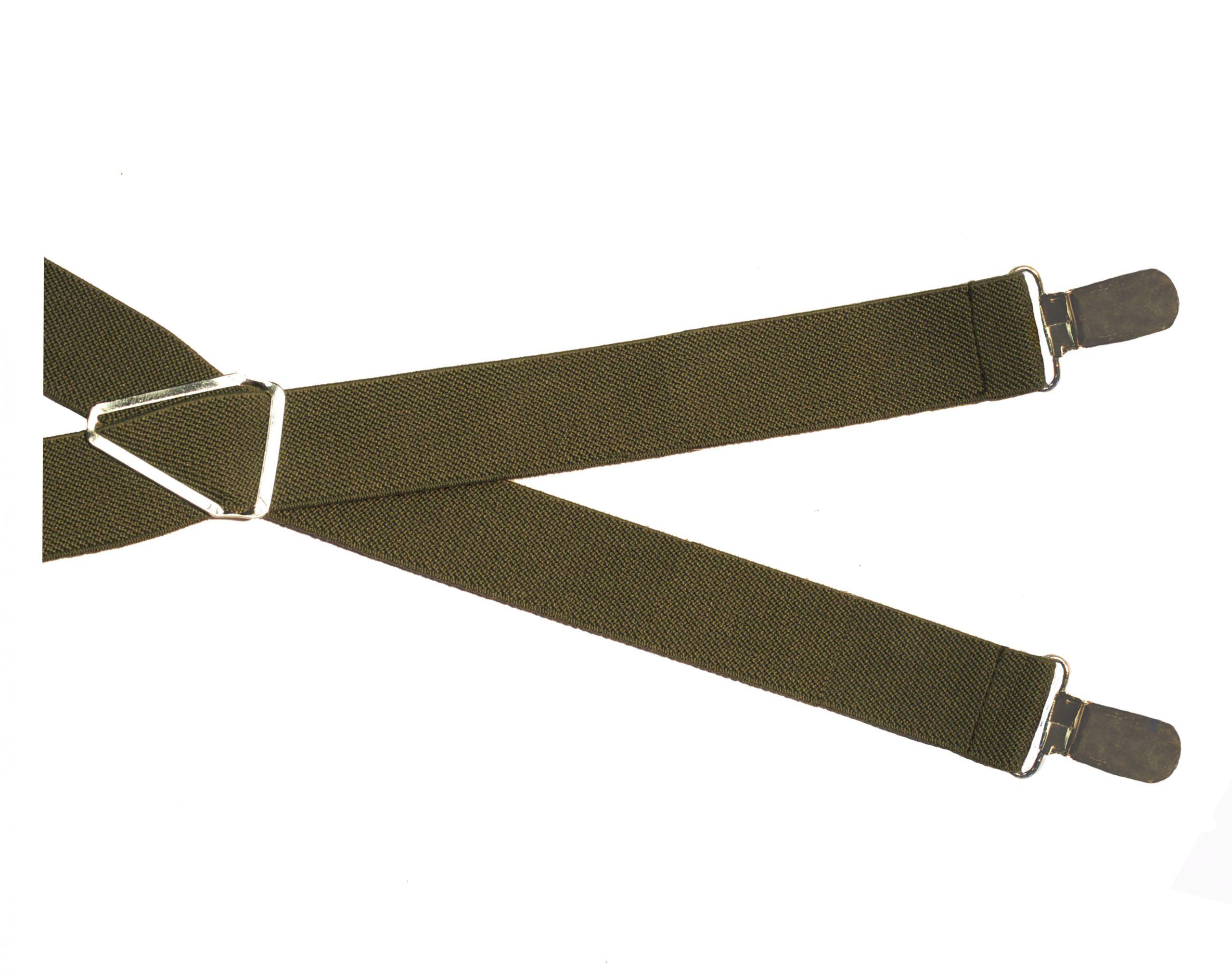 Plain Bottle Green Clip Style Braces