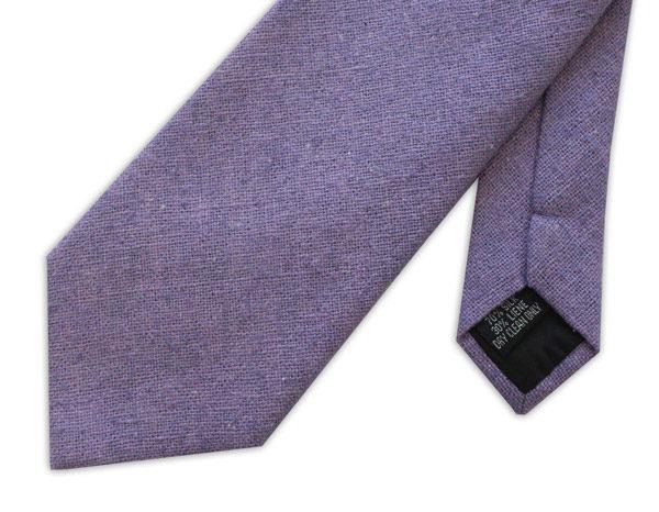 Lilac Silk Linen Tie-0