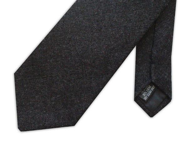 Black Linen Tie-0