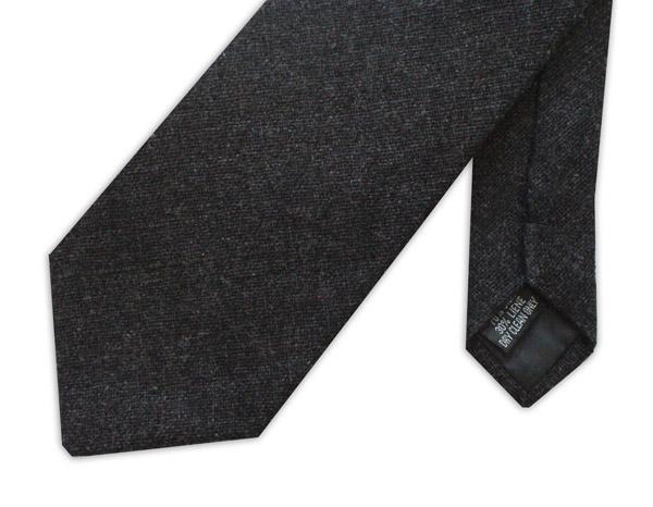 Black Linen Tie