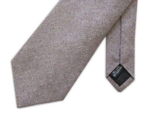 Grey Linen Tie-0