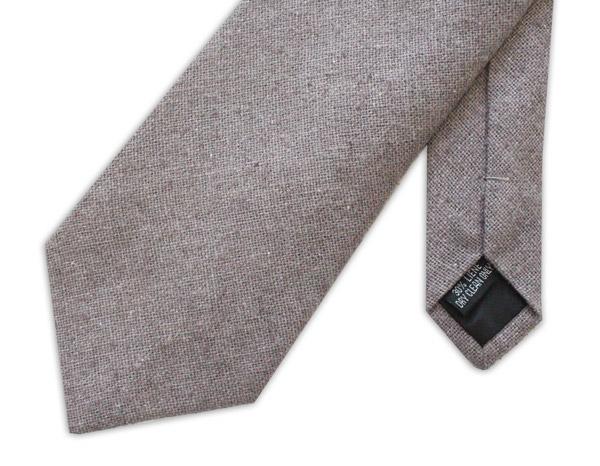 Grey Linen Tie