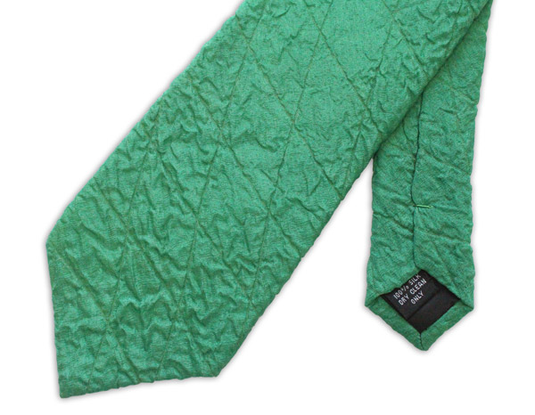 Green Quilted Tie-0